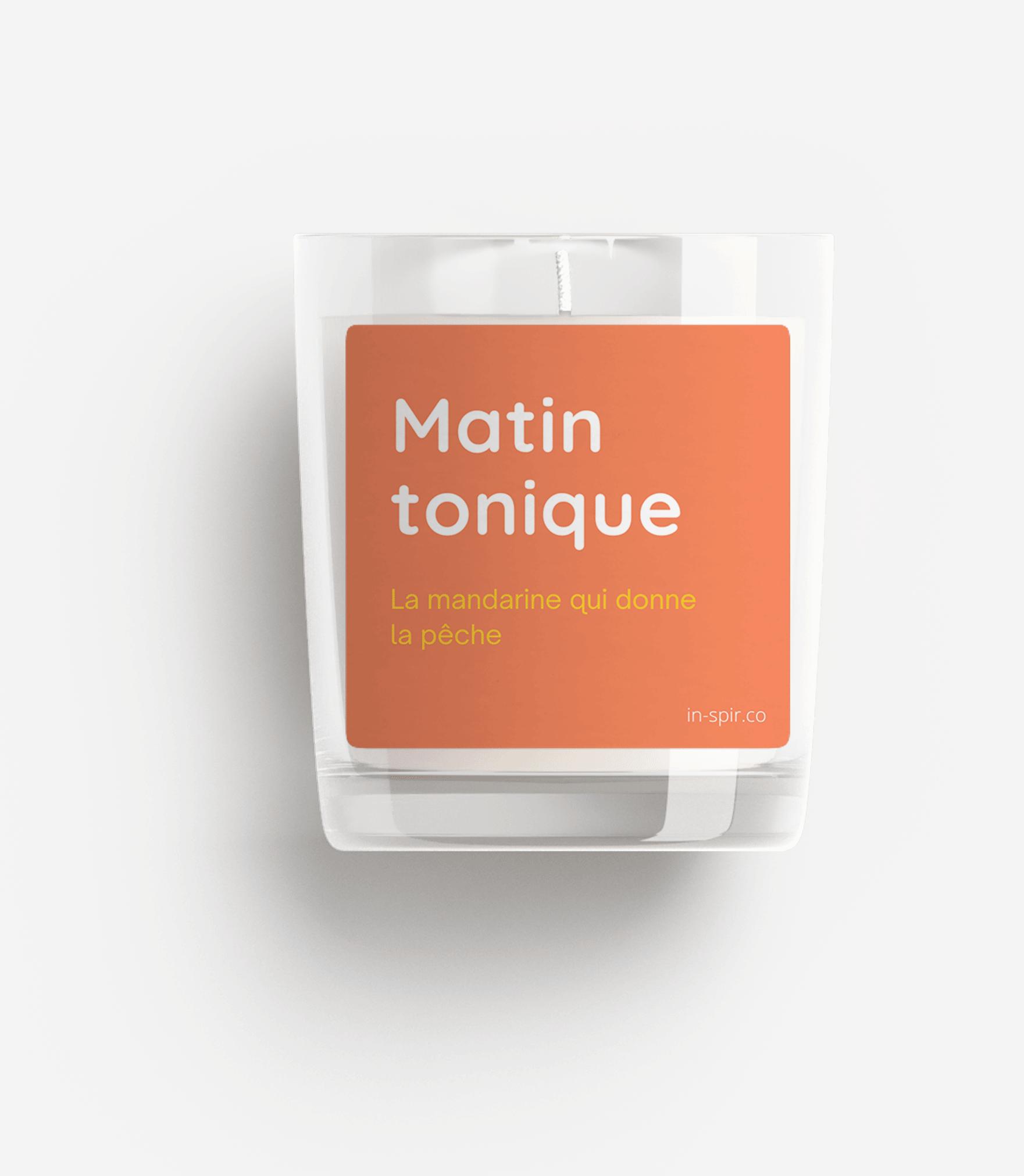 Bougie 100% naturelle In-Spir - matin tonique