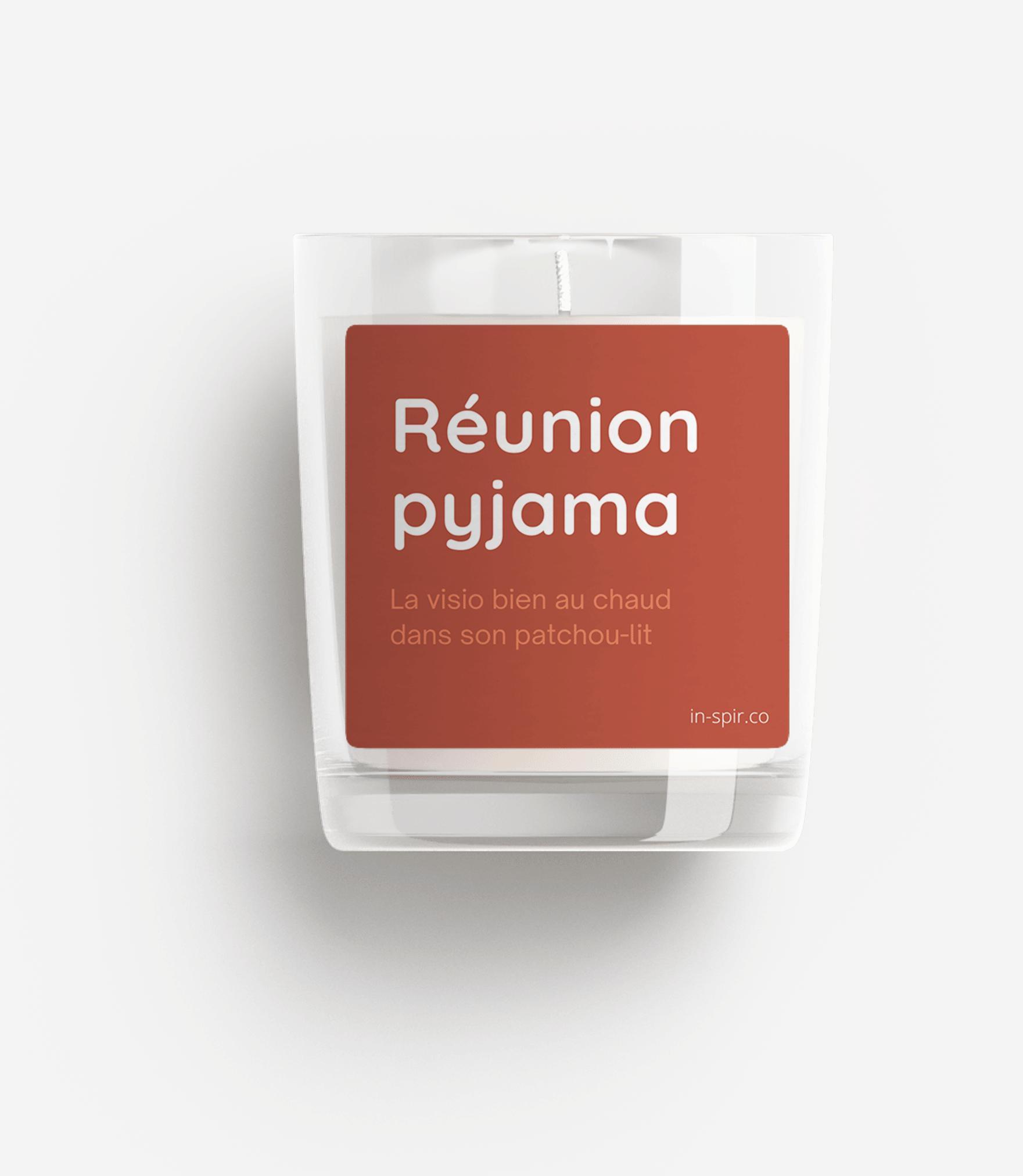 Bougie 100% naturelle In-Spir - reunion pyjama