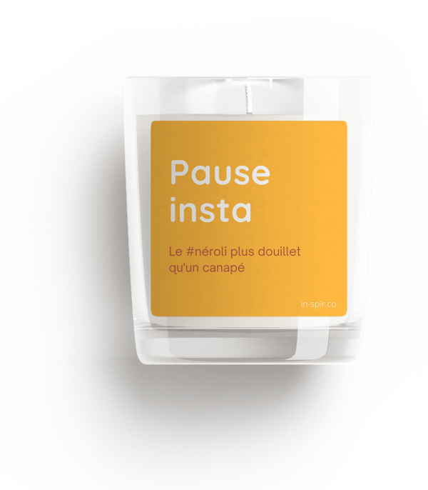 Bougie 100% naturelle - pause insta